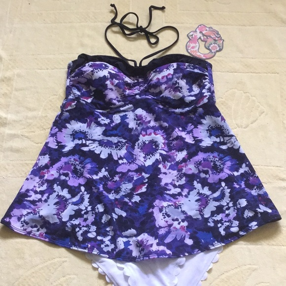 Liz Lange Other - 👶🏻💜MATERNITY TANKINI TOP 🖤🌴